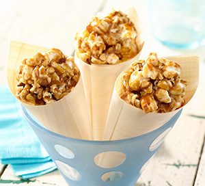 Buttery Maple Bacon Popcorn Bites