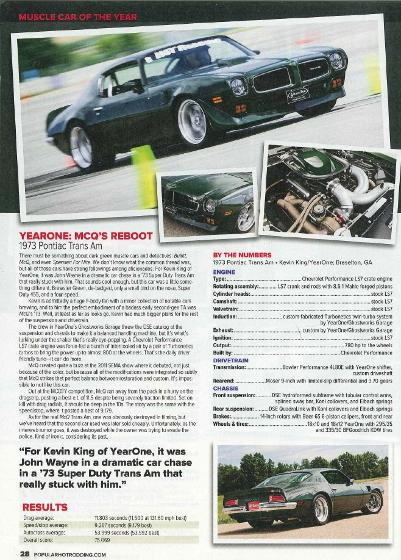 YearOne Restore a Muscle Car 1973 Pontiac Trans Am Restored