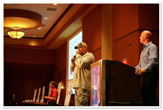 Larry the Cable Guy playing auctioneer